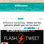 À l'assaut des influenceurs marketing disponibles sur le web